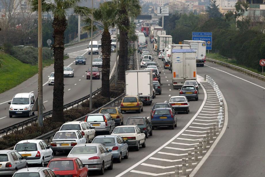 Illustration de l'A57 à Toulon