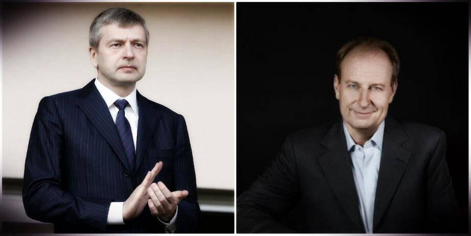 Yves Bouvier (à droite)  est soupçonné d'avoir dupé son client depuis dix ans, le milliardaire russe Dmitri Rybolovlev.