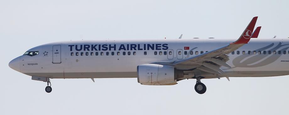 Un avion de la Turkish Airlines à l'aéroport de Nice.