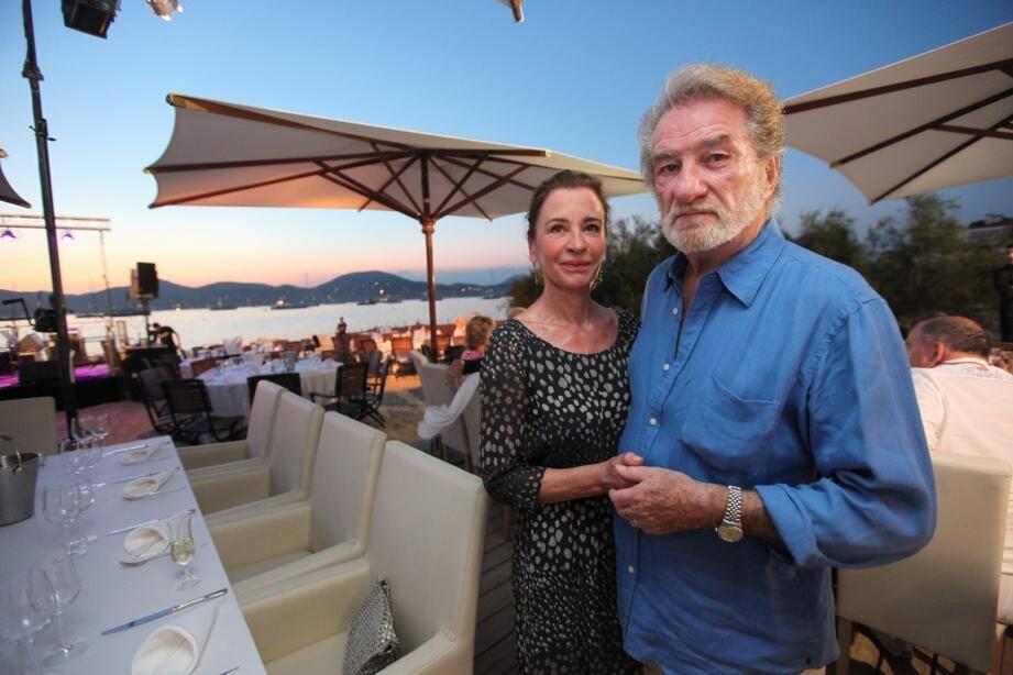 Eddy Mitchell avec sa femme à Saint-Tropez cet été