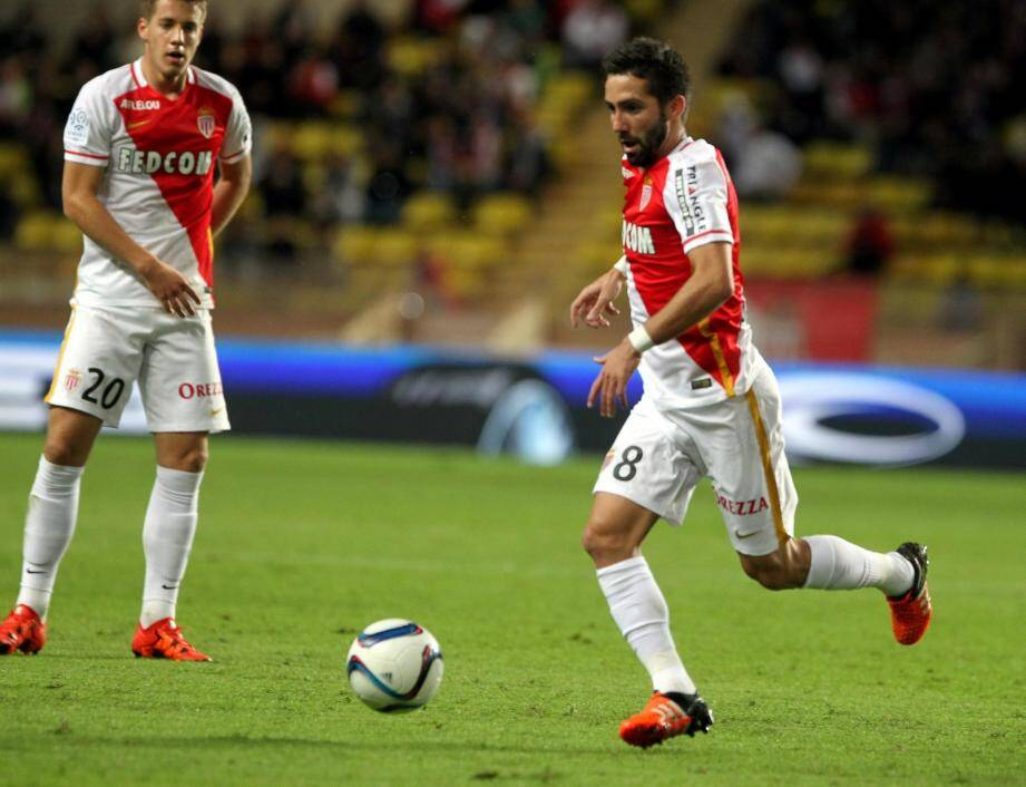 AS Monaco au stade Louis-II.
