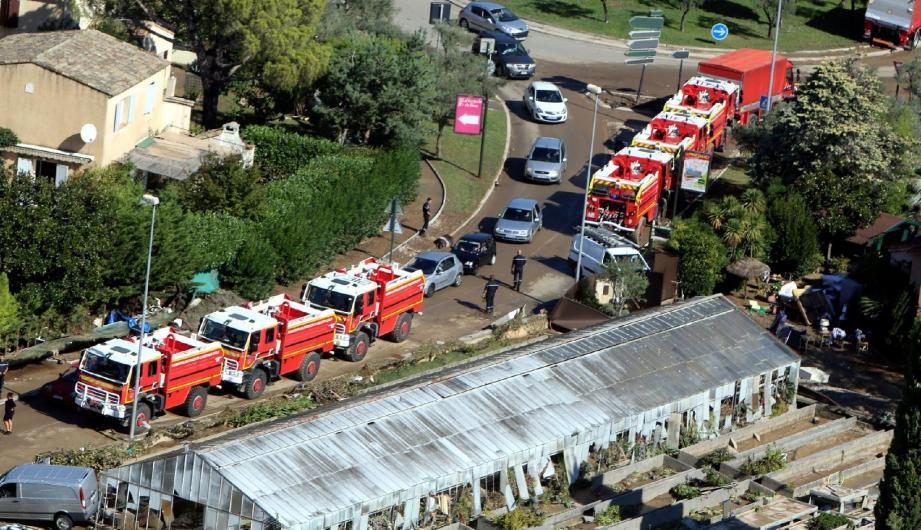Une colonne de sapeurs-pompiers a été engagée sur le secteur de Biot, dans le quartier de la Brague