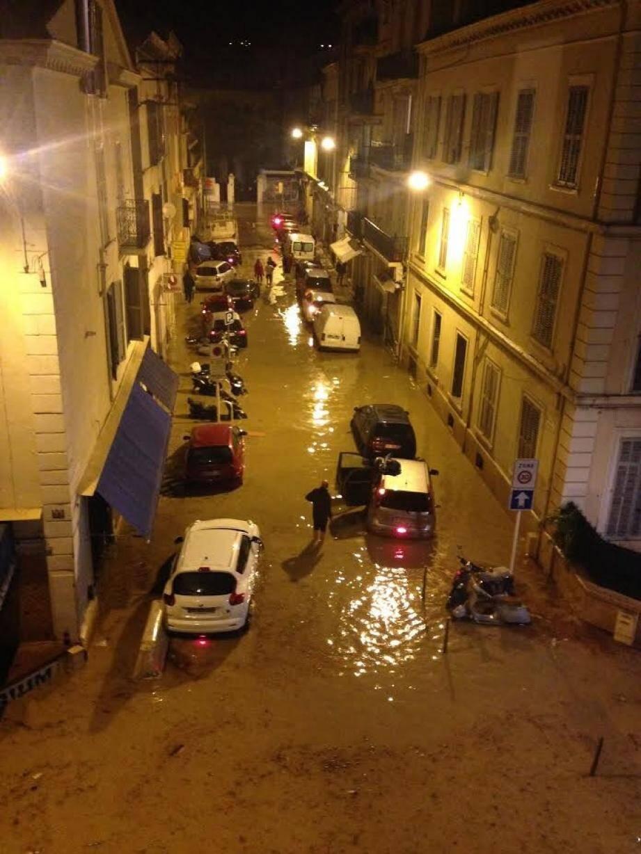 Les inondations à Cannes samedi soir