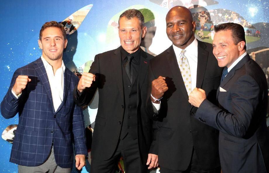 Autour du quintuple champion du monde de boxe, Evander Holyfield, le 26e Sportel organisé par la société de Laurent Puons, MonacoMediax (à sa droite), a réuni encore beaucoup de grands sportifs.