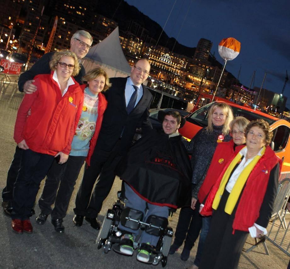 L'an dernier, lors du lancement du Téléthon sur le port avec le prince Albert.