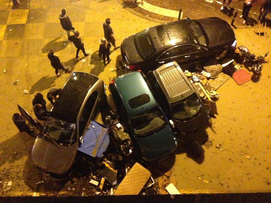 Les dégâts boulevard de la République à cannes