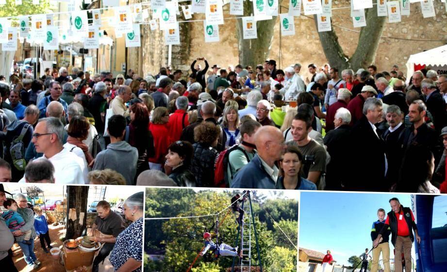 Les visiteurs sont venus nombreux découvrir les activités proposés autour du futur PNR de la Sainte-Baume.