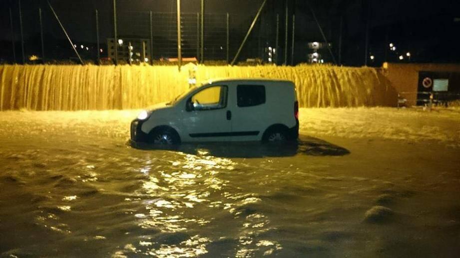 Inondation à Vallauris