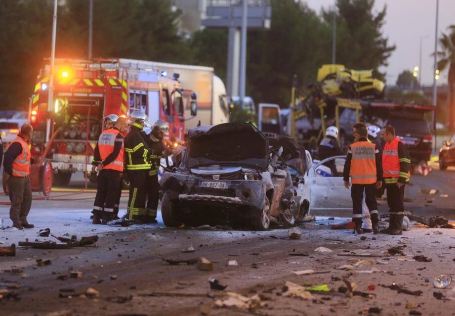 Accident mortel au péage Saint-Isidore à Nice
