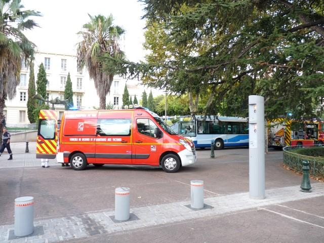 Accident Hyeres bus ado