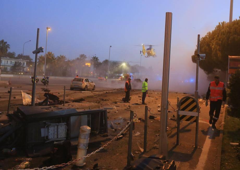 L'accident avait impliqué une dizaine de véhicules à la hauteur de la barrière autoroutiere de st Isidore à Nice.