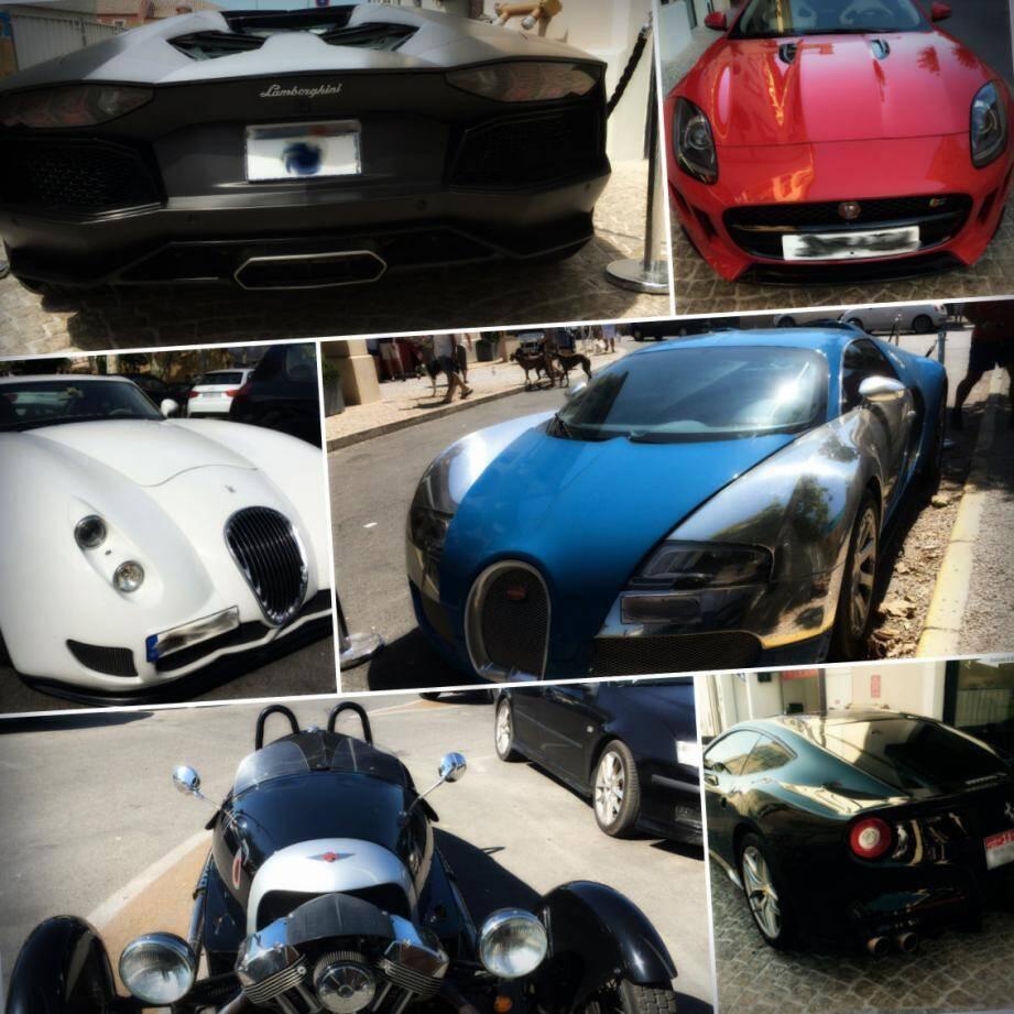 Ces voitures de sport de luxe ne sont pas rares dans les rues de Saint-Tropez