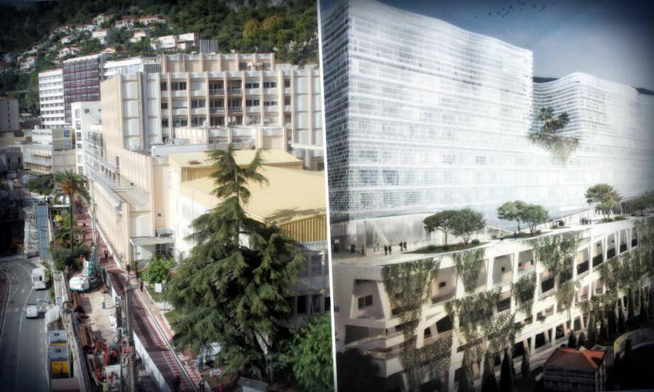 La première phase du chantier consiste à détourner l'avenue Pasteur en contrebas, pour permettre la construction d'un parking de 534 places qui servira de socle à la nouvelle construction.
