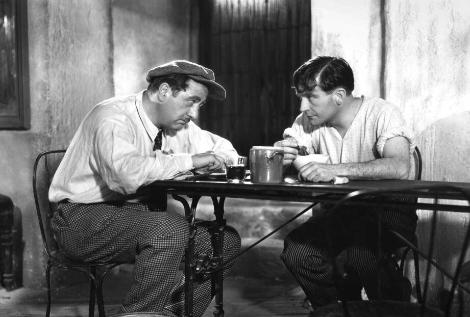 Raimu et Pierre Fresnay, en 1931, incarnant César et Marius, les héros de Pagnol qui retrouvent une deuxième vie sur ces pellicules restaurées.