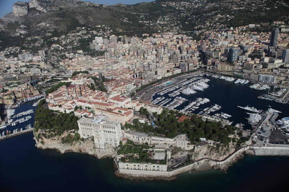 Une vue générale de Monaco.
