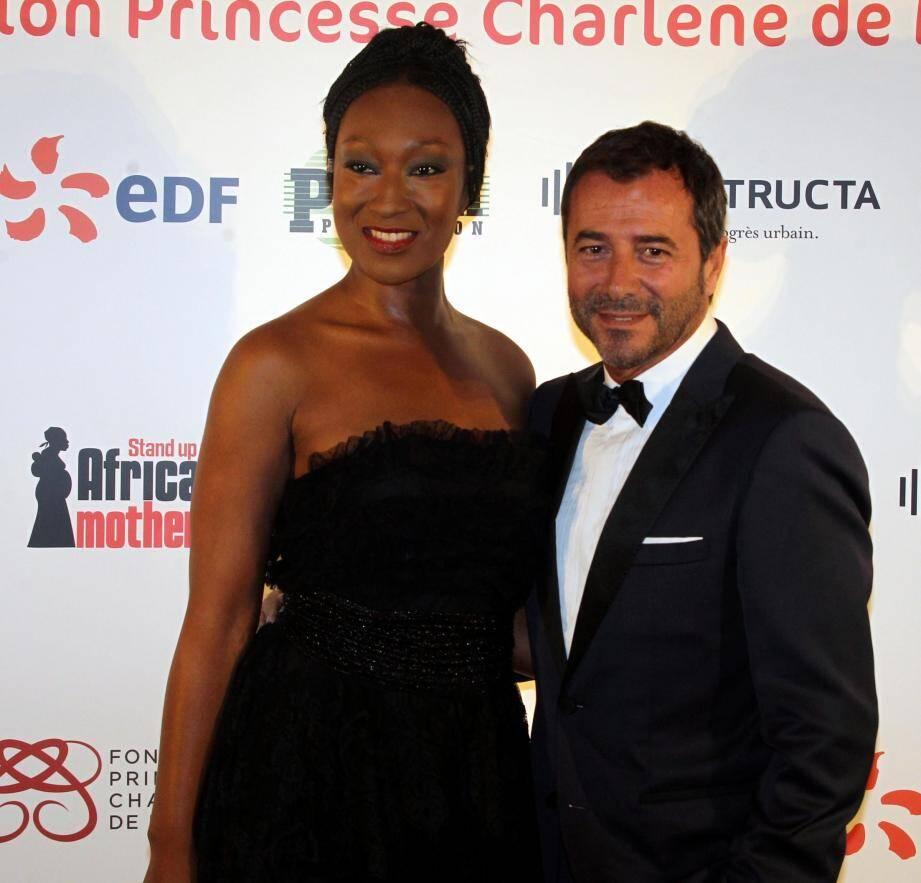Bernard Montiel et Nadège Beausson Diagne
