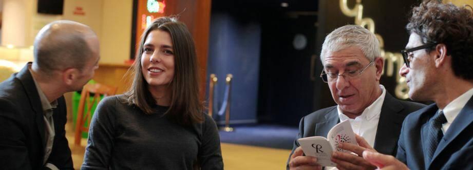 Autour de la présidente, Charlotte Casiraghi, les trois membres fondateurs de l'association, réunis hier : Joseph Cohen, Robert Maggiori et Raphael Zagury-Orly.
