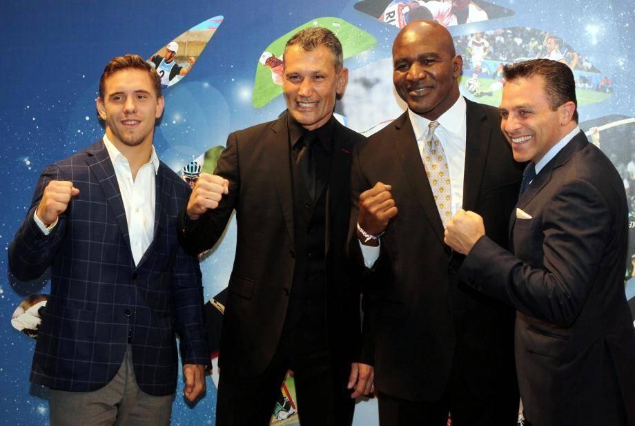 Autour du quintuple champion du monde de boxe, Evander Holyfield, le 26e Sportel organisé par la société de LaurentPuons, MonacoMediax (à sa droite), a réuni encore beaucoup de grands sportifs.