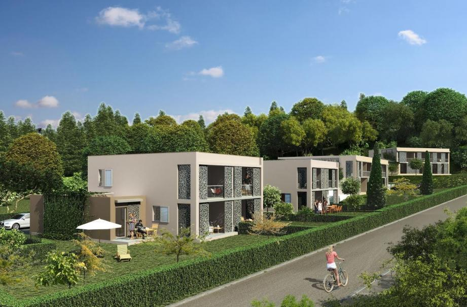 Visuel du futur ensemble immobilier à Saint-Paul de Vence.