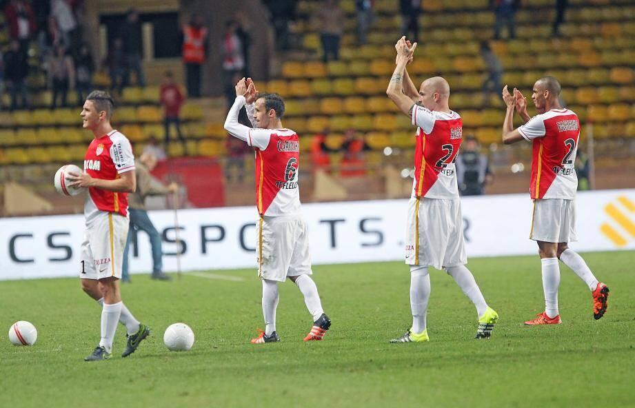 L'AS Monaco au stade Louis II.