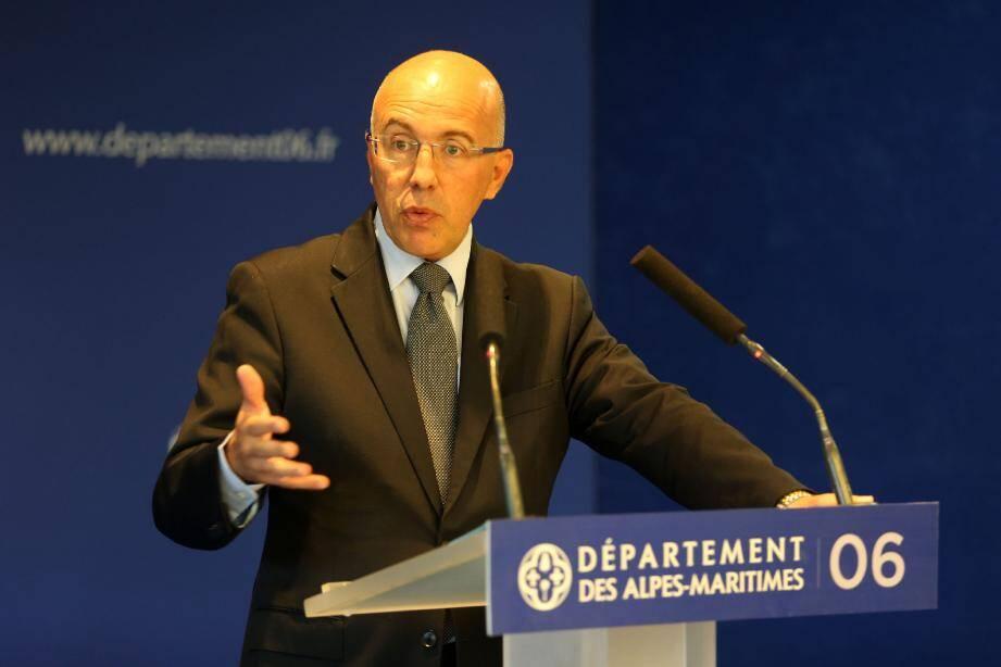 Eric Ciotti, président du conseil départemental des Alpes-Maritimes