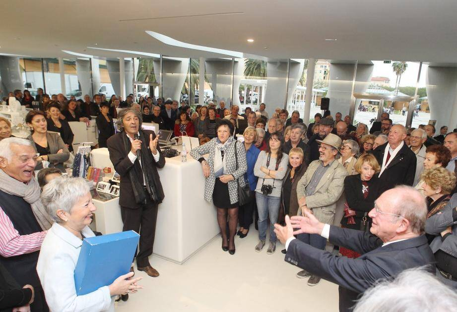Samedi, lors du vernissage, Jean-Claude Guibal et Rudy Ricciotti ont improvisé un grand moment de culture spontané.