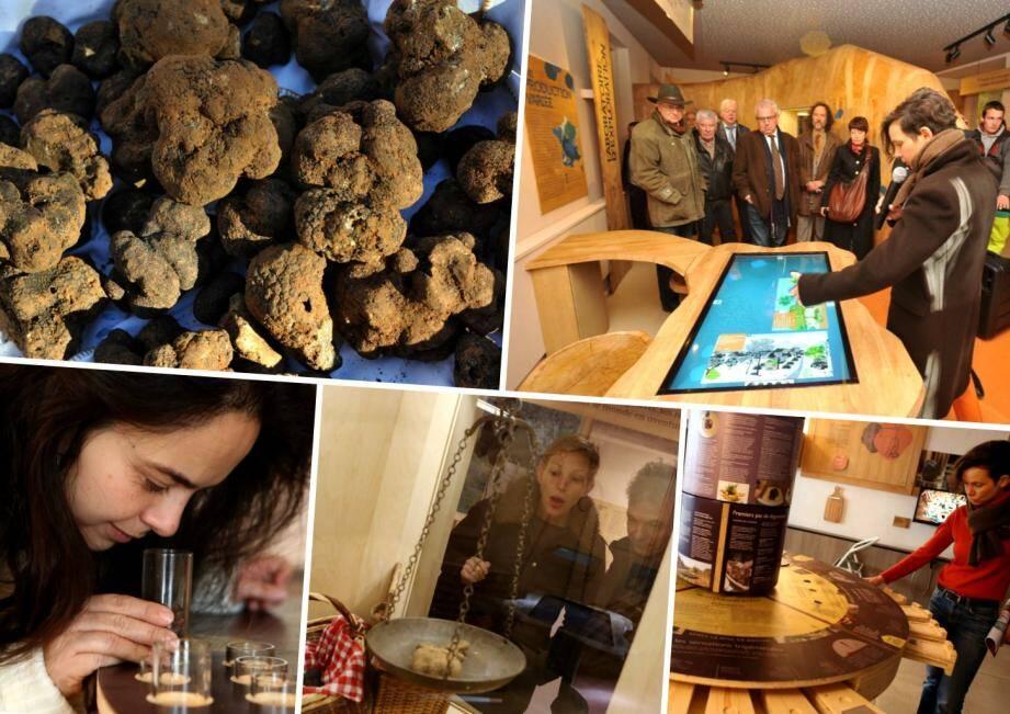 Une fois le marché ouvert, les autorités ont procédé à l'inauguration de la maison de la truffe.