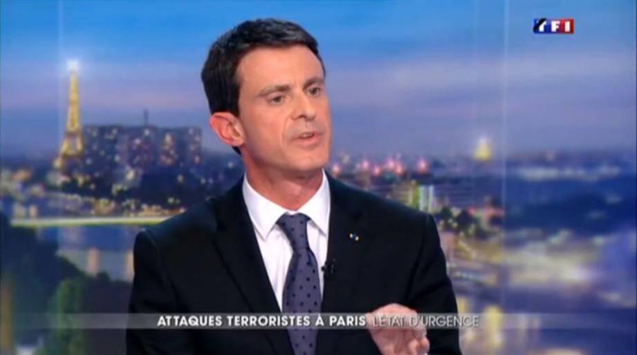 Manuel Valls tf1 attentats 13/11
