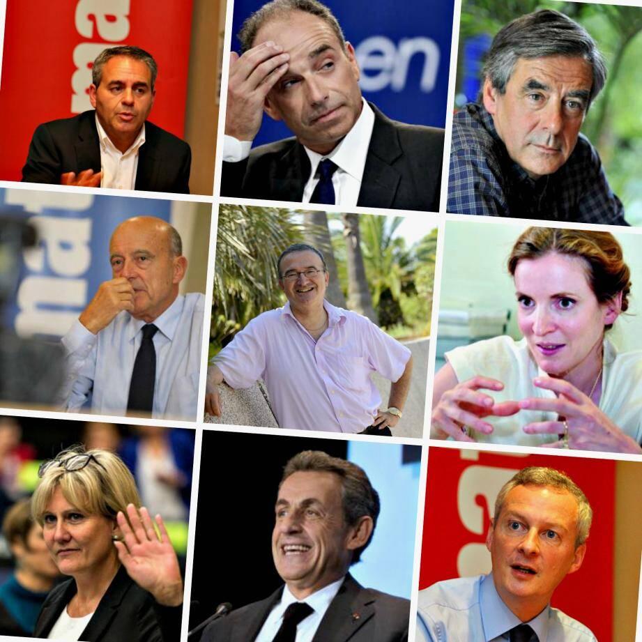 Les neuf candidats à la primaire UMP.