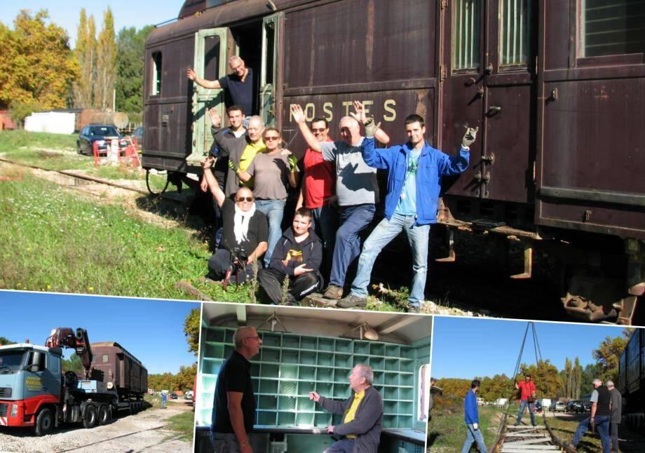 L'arrivée de l'allège postale de 1933 a fait le bonheur des membres de l'association du train touristique
