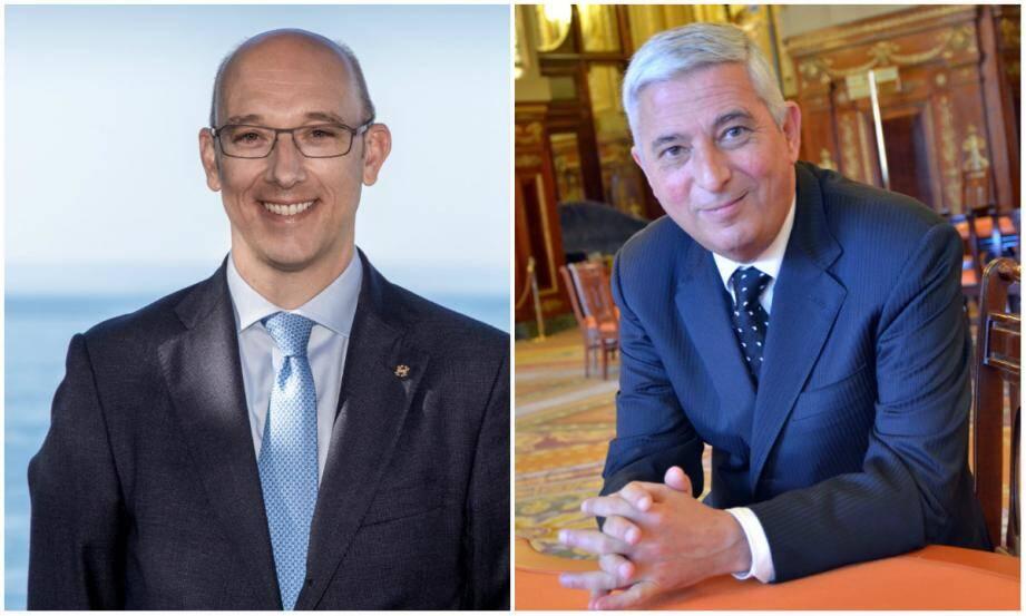 A gauche: Pascal Camia occupera le poste de directeur général des Jeux à partir du 1er décembre. A droite : nommé au tout début de l'été 2013, John Galvani a démissionné le 6 novembre.