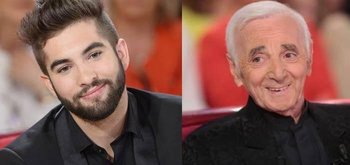 Kendji Girac et Charles Aznavour
