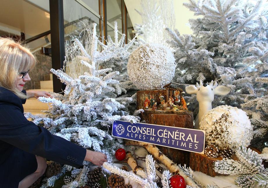 Eric Ciotti avait fait installer une crèche de Noël dans les locaux du Conseil général des Alpes-Maritimes, en 2014.