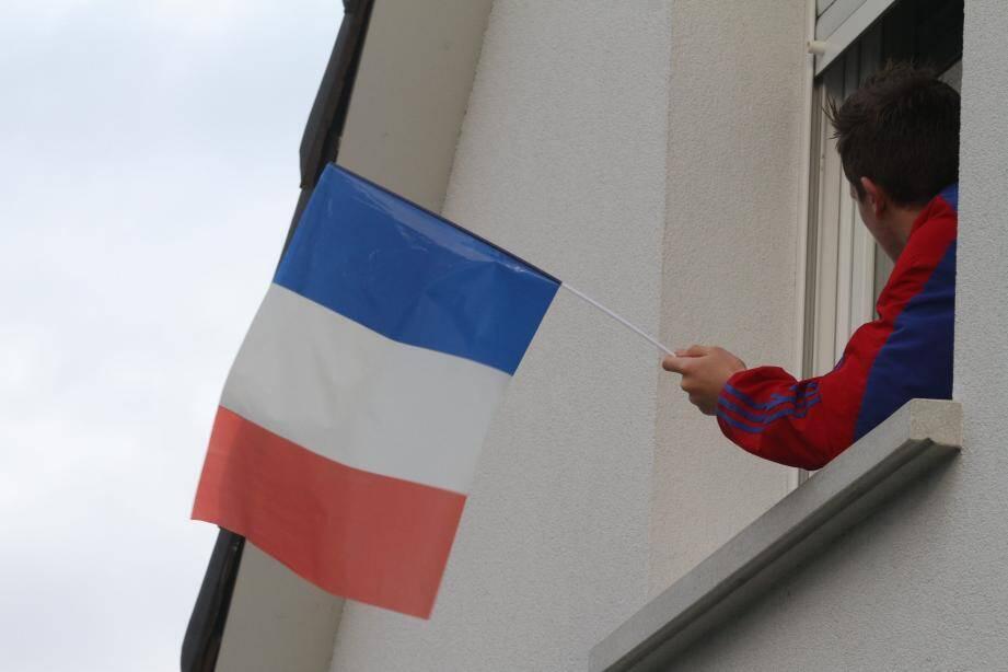 Un drapeau français.