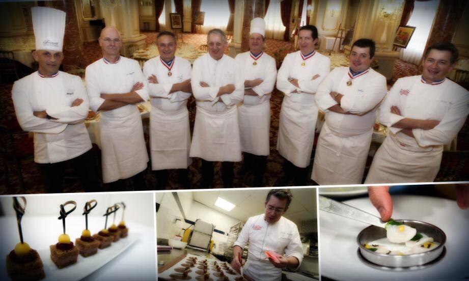 C'est Joël Garault, chefs des cuisines de l'Hôtel Hermitage de Monaco qui accueillait dans ses cuisines ces chefs d'exception. Ils ont élaboré le menu de 150 convives avec notamment un carpaccio de Saint-Jacques
