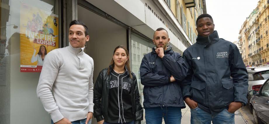 Les médiateurs et animateurs de La Semeuse, rue Trachel à Nice.