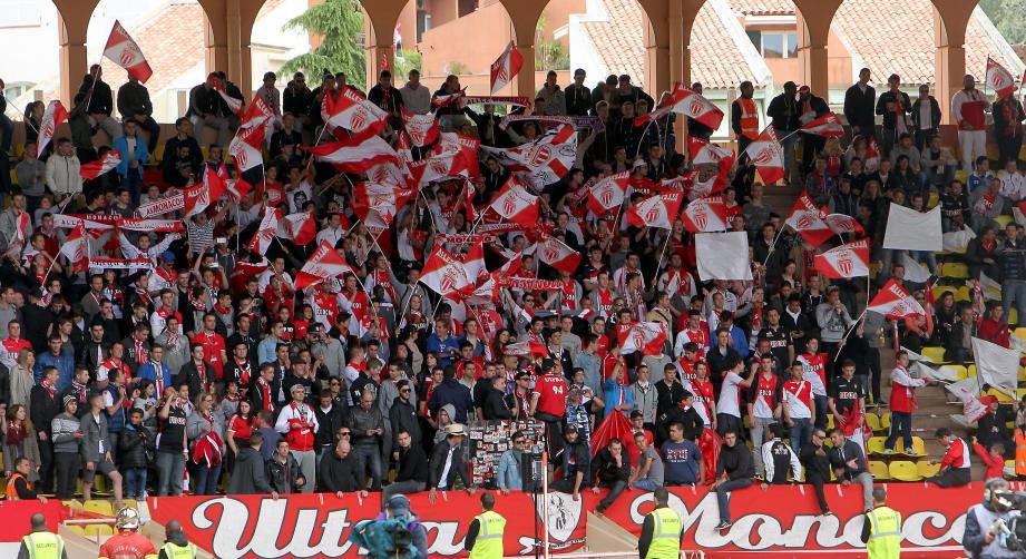 Les supporters de l'AS Monaco.