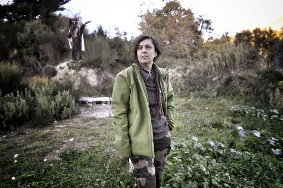 Laetitia Bariera de l'association « Les jardins partagés de Terra Segurana » à Colomars, prône une alimentation « locale ».