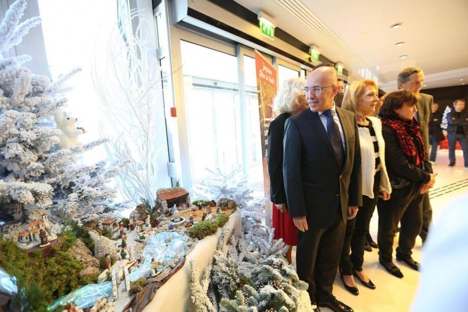 Eric Ciotti a, hier matin, inauguré la crèche de Noël du Centre administratif départemental.