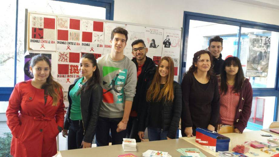 Près de 250 lycéens du lycée Jacques-Dolle ont été sensibilisés au SIDA.(DR)