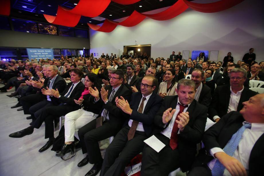 Cinq cents personnes ont investi le Palais du commerce de la mer pour assister à la remise des trophées du Club de l'Éco de Var-matin.