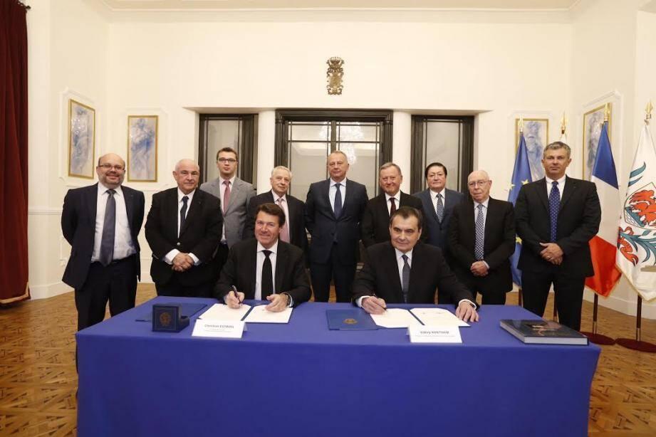 Christian Estrosi et Valéry Kostiouk ont signé un protocole d'accord pour rapprocher Nice des sciences russes.