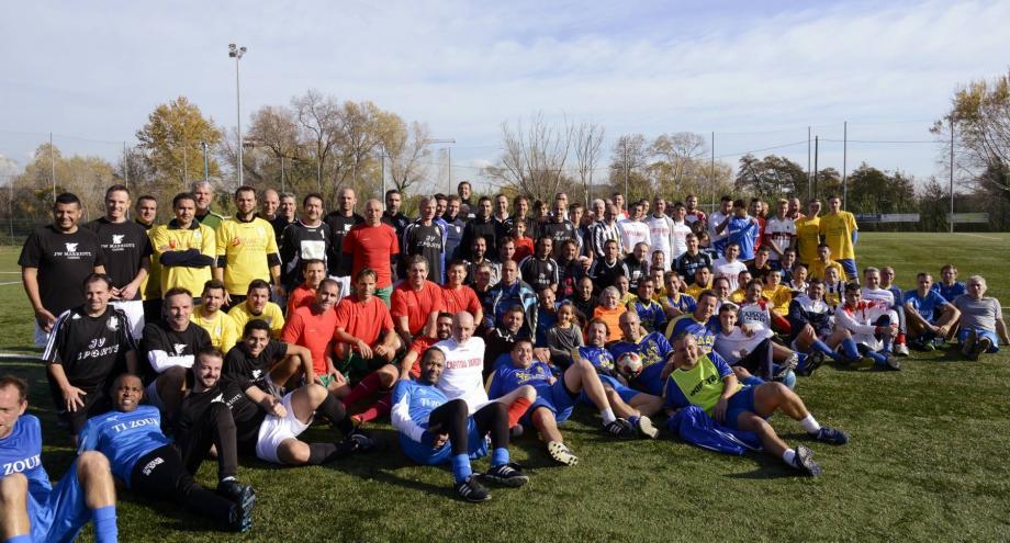 A la Vernède, quatorze équipes étaient au rendez-vous  du « Souvenir Alain Renaud ».