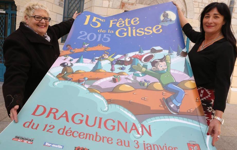 Christine Niccoletti, adjointe, et Sylviane Nervi-Sita, conseillère municipale, ont présenté la Fête de la glisse.
