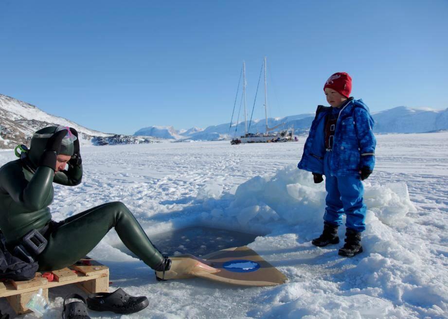 Au printemps 2015, la Niçoise Aurore Asso a établi deux records d'apnée au Groenland.