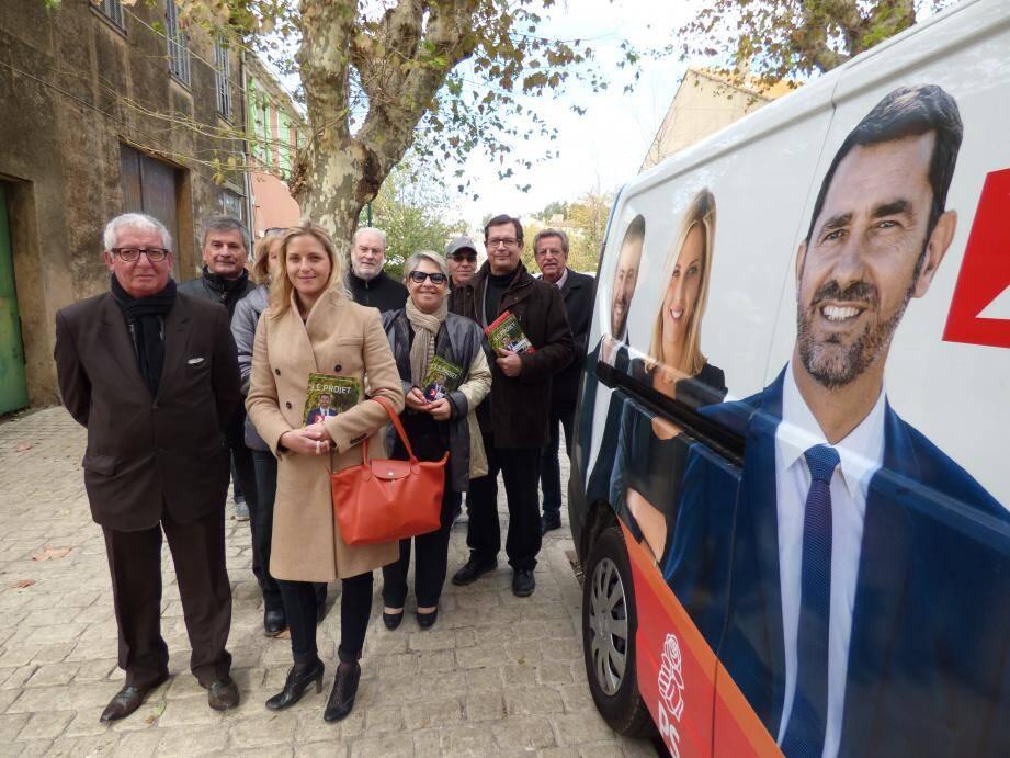 Une délégation importante a accompagné Cécile Muschotti.