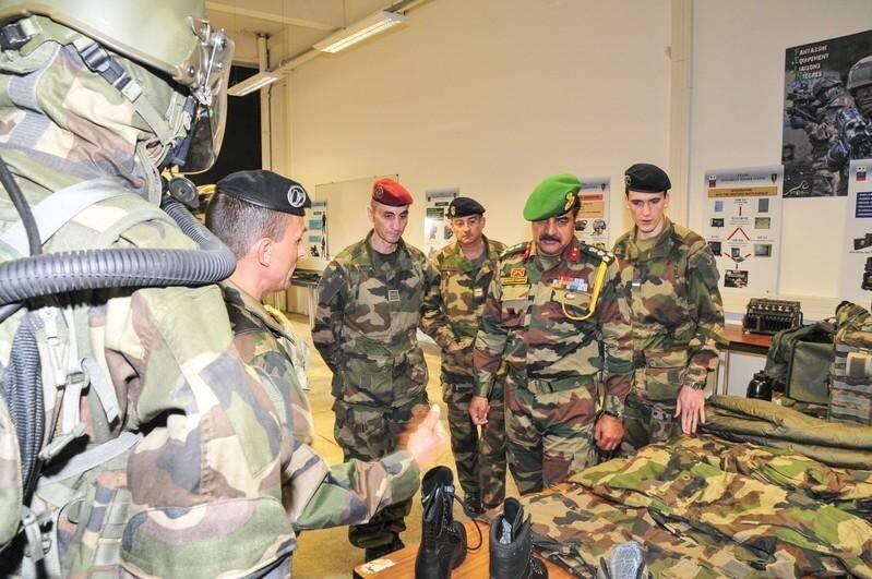 La délégation de l'armée indienne.