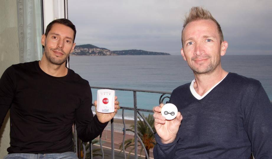 Christian Lenk et Gregg Vanderberghe ont conçu le système Service SOS qui tient en deux boîtiers.