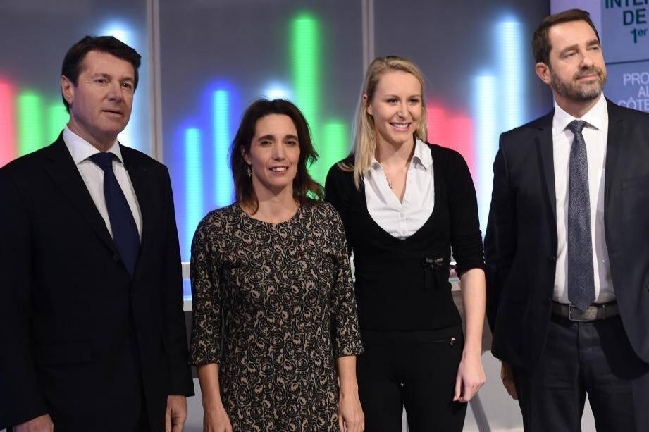 À quelques jours du premier tour, la tension monte pour les quatre principaux candidats : Christian Estrosi (Les Républicains-UDI), Sophie Camard (Front de Gauche-Europe Écologie-Les Verts), Marion  Maréchal-Le Pen (Front national) et Christophe Castaner (Parti socialiste et alliés).