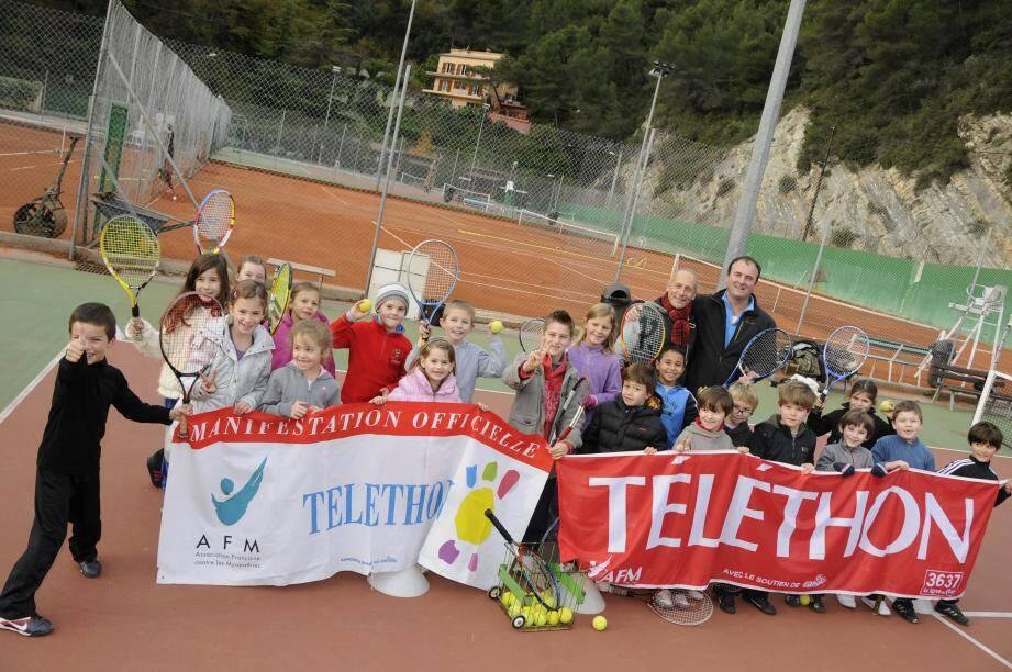 Le Tennis Club de RCM, fidèle partenaire du Téléthon.